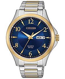Men's Quartz Two-Tone Stainless Steel Bracelet Watch 41mm