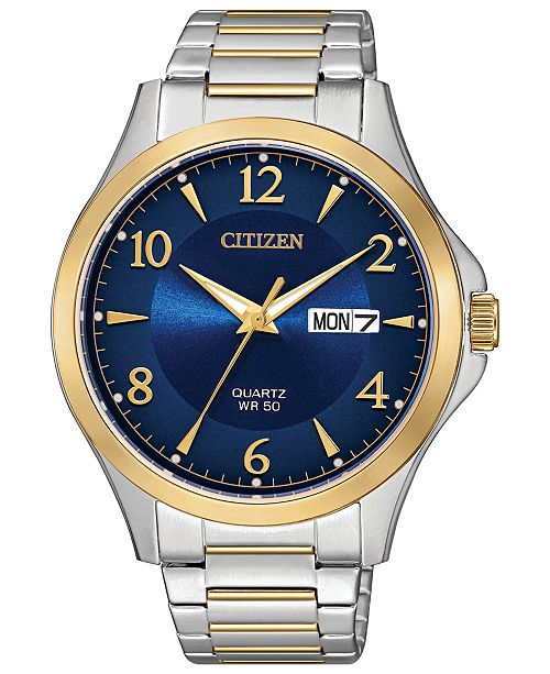 Citizen Men's Quartz Two-Tone Stainless Steel Bracelet Watch 41mm