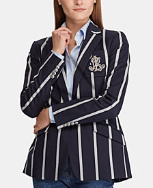 Lauren Ralph Lauren Striped Cricket Blazer