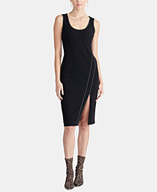 RACHEL Rachel Roy Contrast-Stitch Dress, Created For Macy's