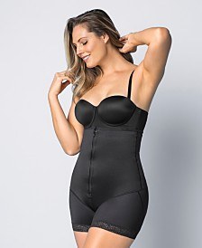 Latex Strapless Bodysuit With Booty Booster
