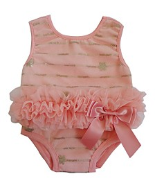 Baby Tutu Bodysuit Peach Sequin