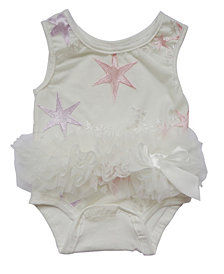 Baby Tutu Bodysuit Star Embroidered