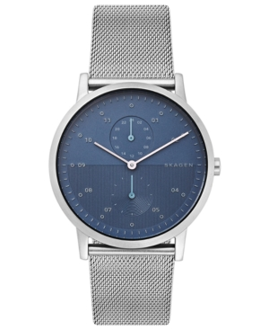 Skagen Watches MEN'S KRISTOFFER STAINLESS STEEL MESH BRACELET WATCH 42MM