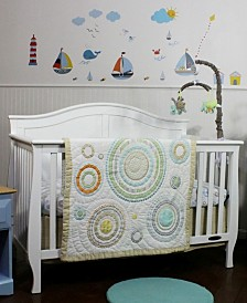 Nurture Circles and Twill 3 Piece Bedding Set