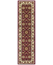 "KAS Cambridge Floral Agra 7306 Red/Ivory 2'2"" x 7'11"" Runner Area Rug"