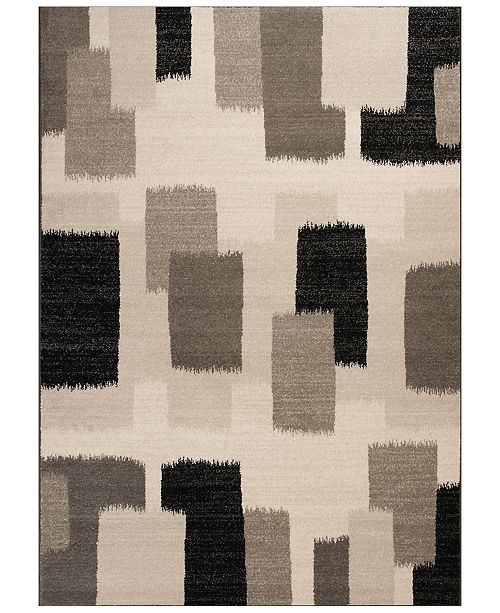 "Kas CLOSEOUT! Reflections Palette 7413 Black 5'3"" x 7'7"" Area Rug"