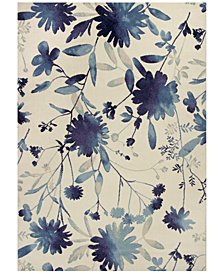 """KAS Reflections Watercolors 7415 Blue 2'7"""" x 4'11"""" Area Rug"""
