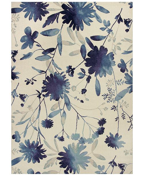 "Kas Reflections Watercolors 7415 Blue 7'10"" x 11'2"" Area Rug"