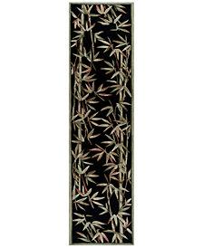 "KAS Sparta Bamboo Border 2'6"" x 10' Runner Area Rug"