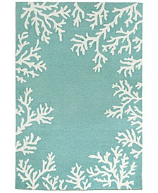 "Capri 1620 Coral Border 5' x 7'6"" Indoor/Outdoor Area Rug"