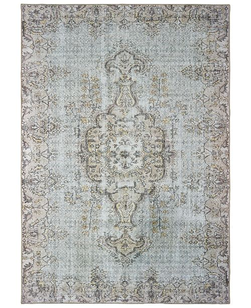 "Oriental Weavers Sofia 85816 Gray/Gold 1'9"" x 2'8"" Area Rug"