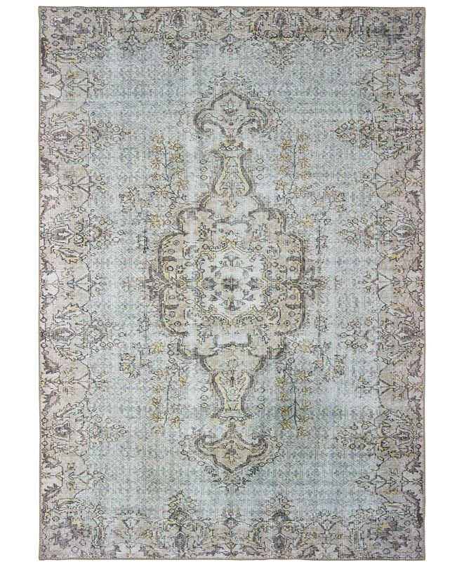 "Oriental Weavers Sofia 85816 Gray/Gold 5'3"" x 7'6"" Area Rug"