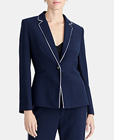 RACHEL Rachel Roy Piped One-Button Blazer, Created for Macy's