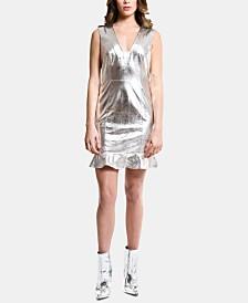 ARTISTIX Metallic Flounce-Hem Dress