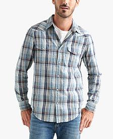 Lucky Brand Men's Regular-Fit Western Plaid Shirt