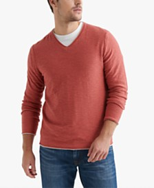 Lucky Brand Men's Textured V-Neck Sweater