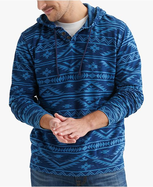 Lucky Brand Men's Regular-Fit Geometric Jacquard Hoodie
