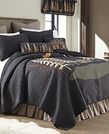 Moonlit Cabin Cotton Quilt Collection, Queen