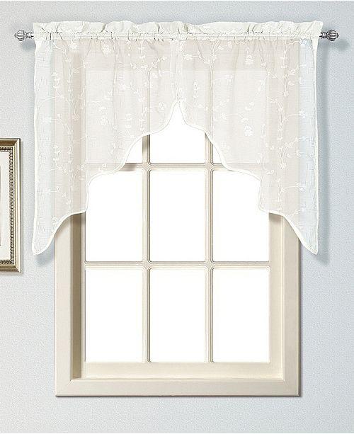 "United Curtain Co Inc Savannah 51"" X 38"" Pair Of Kitchen Swags"