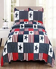 Americana King Quilt Set