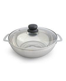 SPT 3.5L Stainless Steel Pot with Glass Lid
