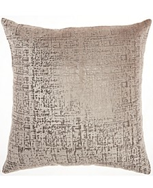 Inspire Me! Home Decor Distressed Metallic Beige Throw Pillow