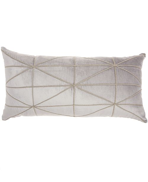 Nourison Inspire Me! Home Décor Criss Cross Light Grey Throw Pillow
