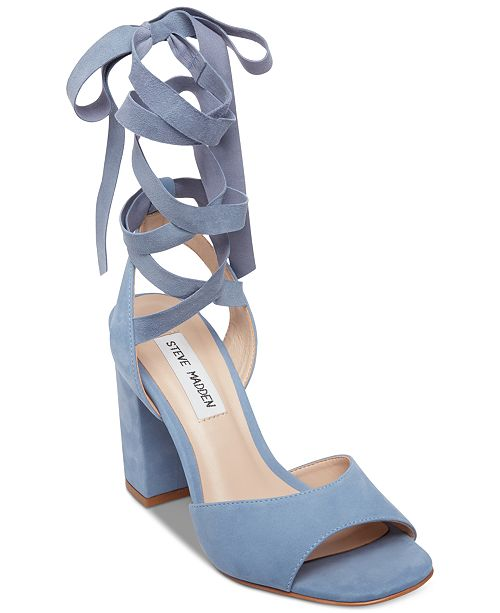 51b73ae7650 Steve Madden Women s Kenny Tie-Up Dress Sandals   Reviews - Sandals ...