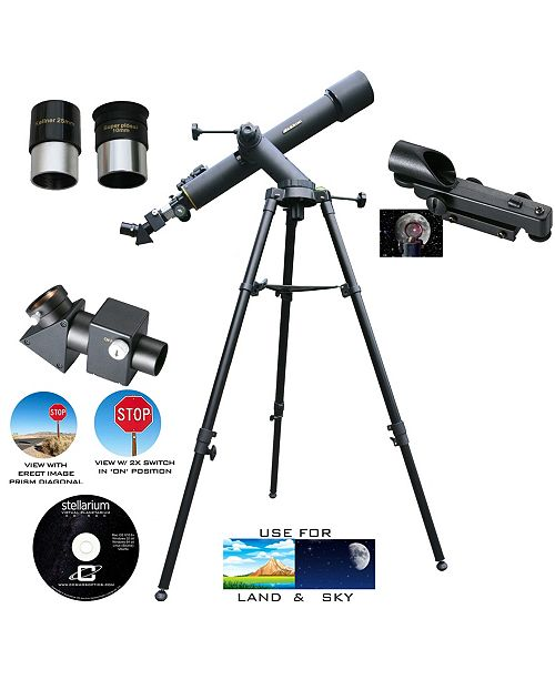 Cosmo Brands Cassini 720 X 80 Land and Sky Tracker Telescope and 2X Flip Barlow and Dot Sight