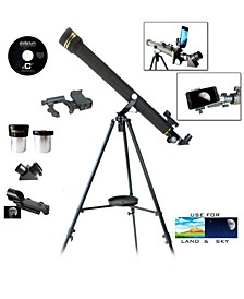 Galileo 800 X 60mm Day and Night Telescope and Smartphone Adapter and Red Dot Finder