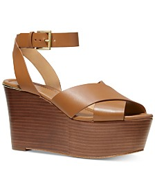 MICHAEL Michael Kors Abbott Platform Wedge Sandals
