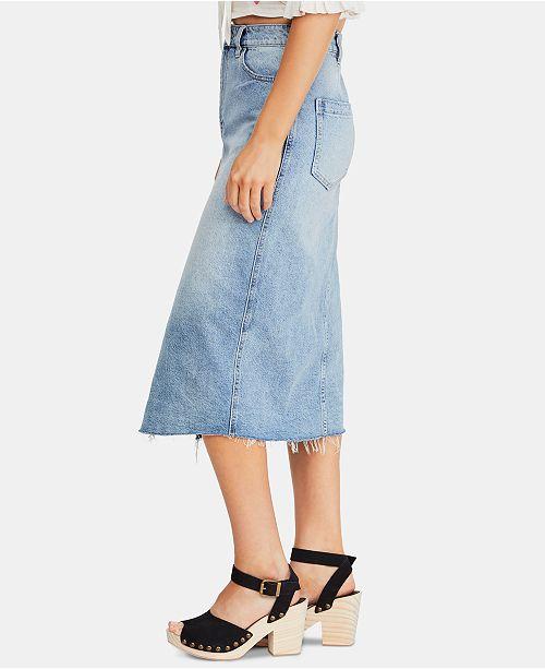 79445b388b Free People Wilshire Jean Skirt & Reviews - Skirts - Juniors - Macy's