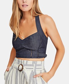 Free People Tightly Bound Cotton Cropped Top