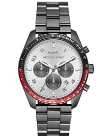 Michael Kors Men's Chronograph Keaton Gunmetal Stainless Steel Bracelet Watch 43mm