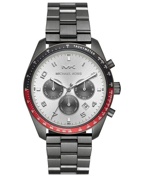 Michael Kors Men's Chronograph Keaton Gunmetal Stainless Steel Bracelet Watch 43mm