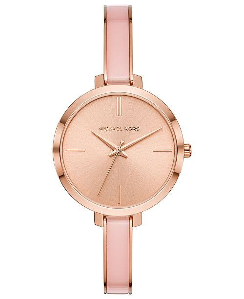 Michael Kors Women's Jaryn Pink Acetate Bangle Bracelet Watch 36mm