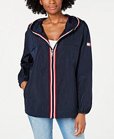 Tommy Hilfiger Zip-Up Logo Windbreaker Jacket, Created for Macy's