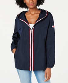 Tommy Hilfiger Zip-Up Logo Windbreaker Jacket, Created for Macy's