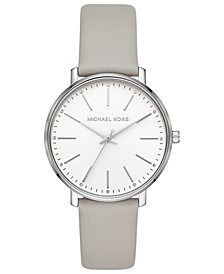 Women's Pyper Gray Leather Strap Watch 38mm