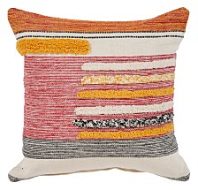 LR Home Bright Lined Throw Pillow