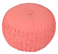 LR Home Bee's Knees Pleated Pouf Ottoman