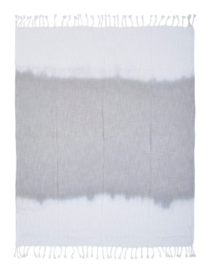 Image of Lr Home Shibori Alloy Ombre Slab Throw Blanket