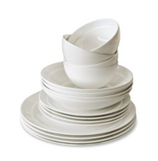 Over and Back Traditions 16 Piece Bone China Dinnerware Set