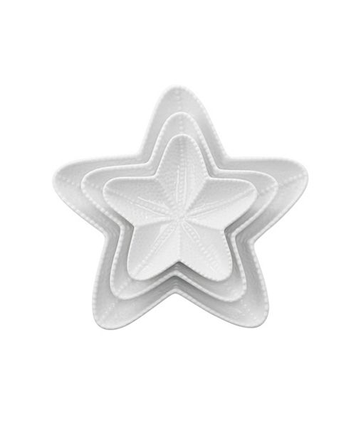 Over and Back Starfish Plates - Set Of 3