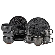 Noir 16 Piece Dinnerware Set