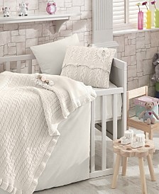 Nipperland Rozy Premium 6 Piece Crib Bedding Set