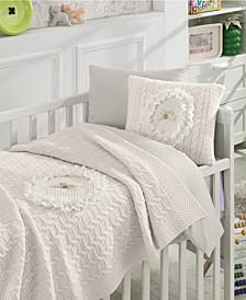 Lace Premium 6 Piece Crib Bedding Set