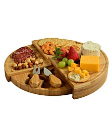 Florence Multilevel Transforming Bamboo Cheese Board with Tools