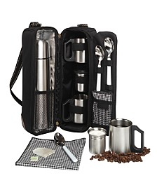 Picnic at Ascot Vienna Coffee Tote for 2 - Coffee Flask and Accessories.